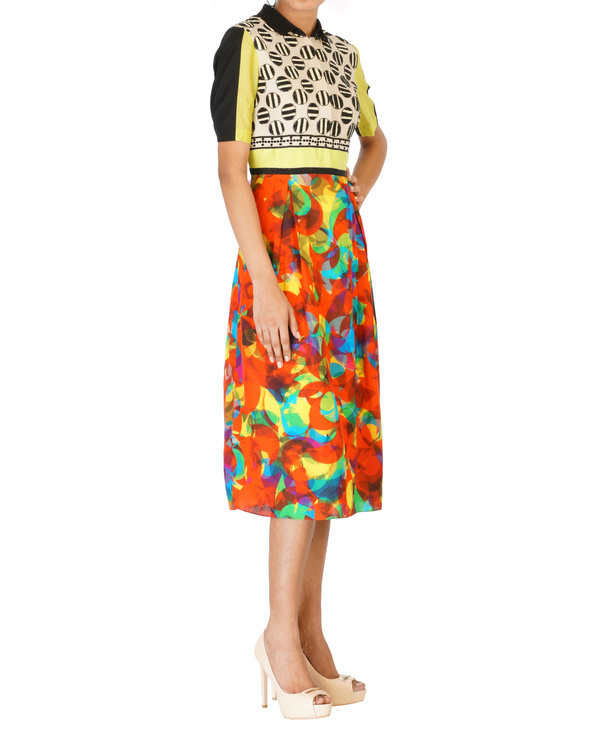 Digitally printed embroidered dress 2