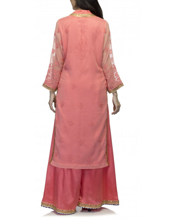 Coral kurta set with dupatta 2