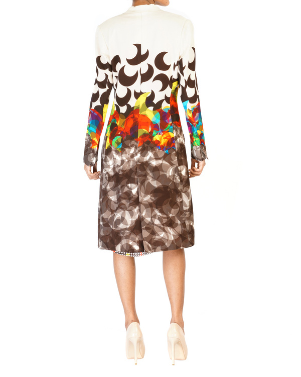Digitally printed shawl collar jacket 1
