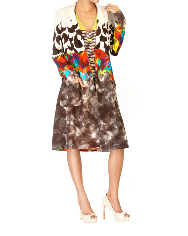 Digitally printed shawl collar jacket 2