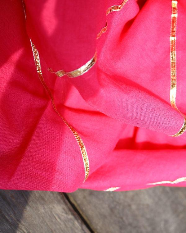 Pink dupatta with gota detailing 1