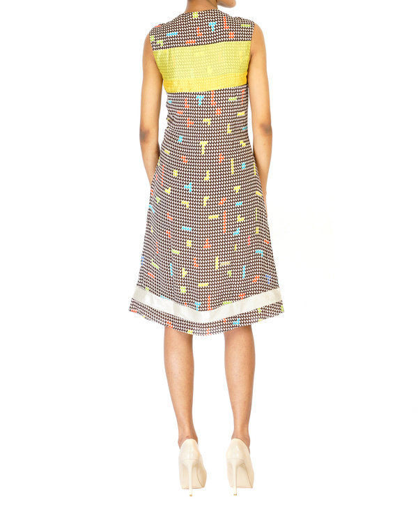 Digitally printed georgette dress 1