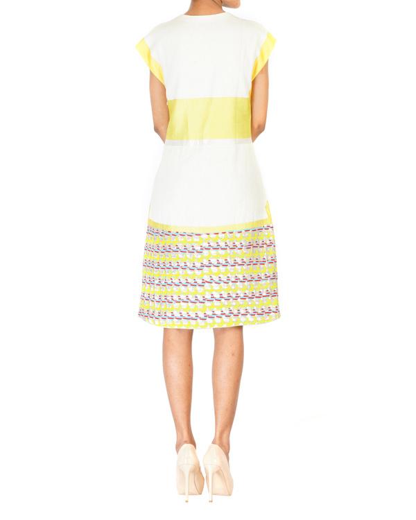 Linen v-neck slip dress 1