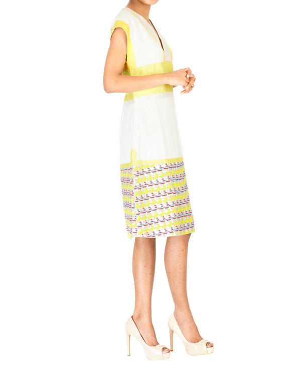 Linen v-neck slip dress 2