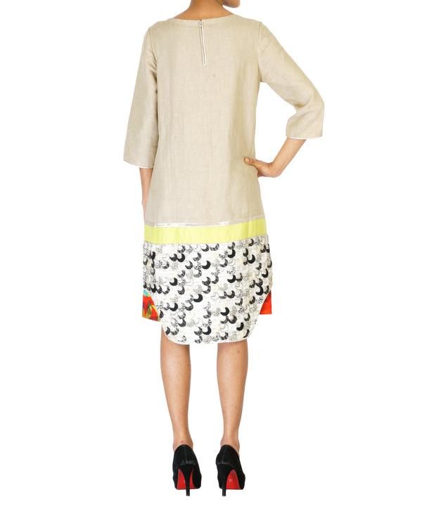 Linen embroidered slip dress 1