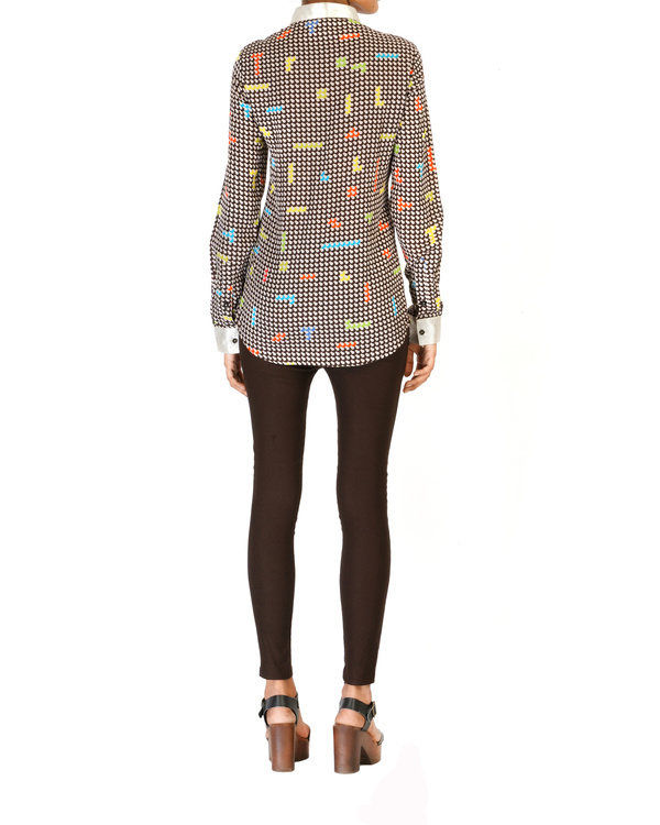 Digitally printed georgette shirt 1