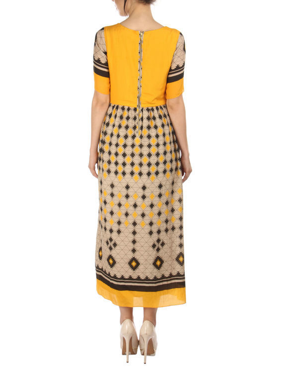 Yellow ankle length dress 1