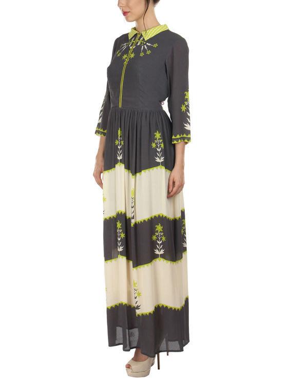 Charcoal shirt dress 3