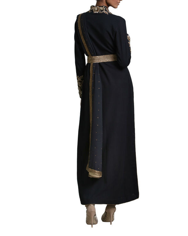 Black peshwa kurta set 2