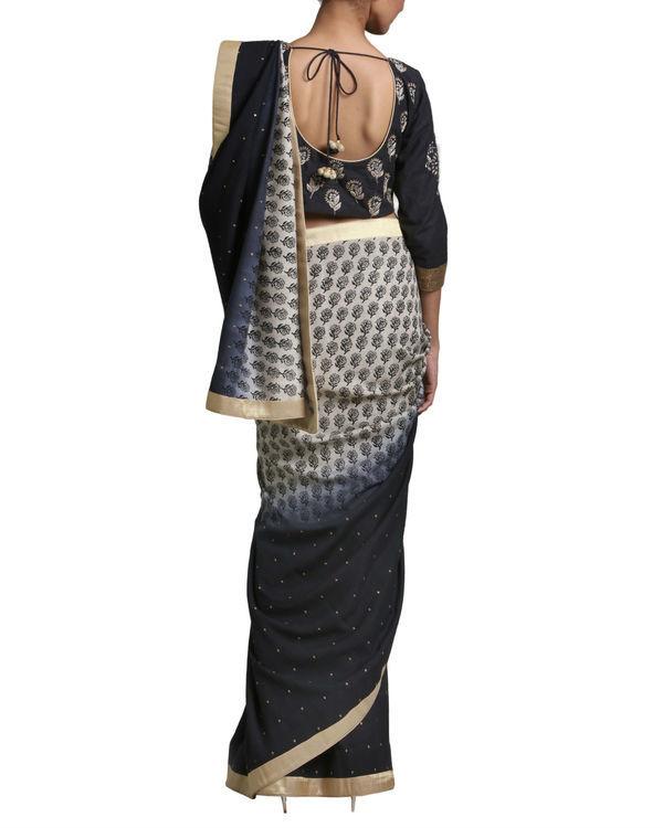 Black ombre sari 1
