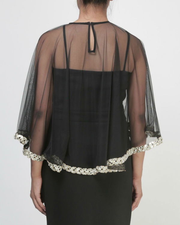 Mirror embellished cape 1