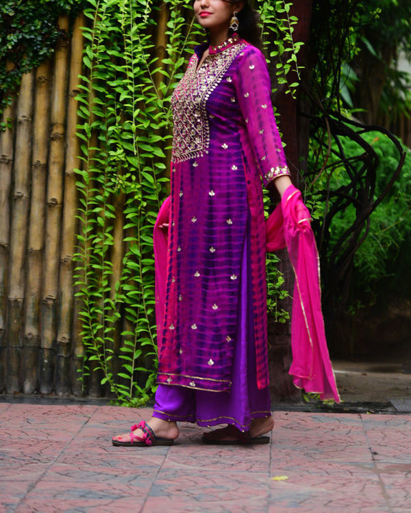 Purple pink gota patti set 2