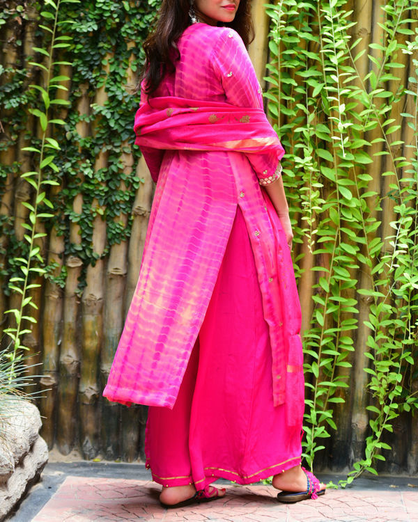 Onion pink gota patti set 1