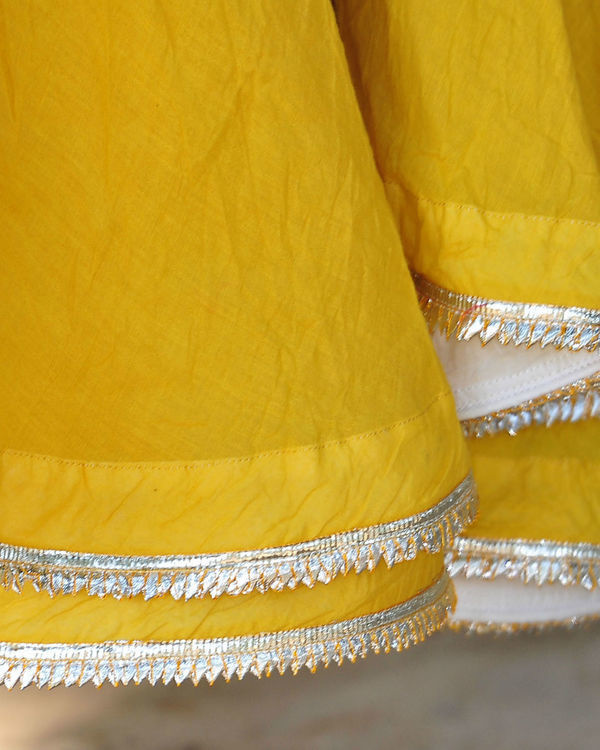 Mustard and ivory ghagra set 3