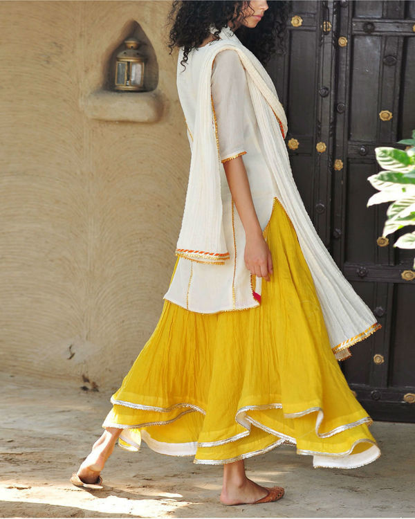 Mustard and ivory ghagra set 4