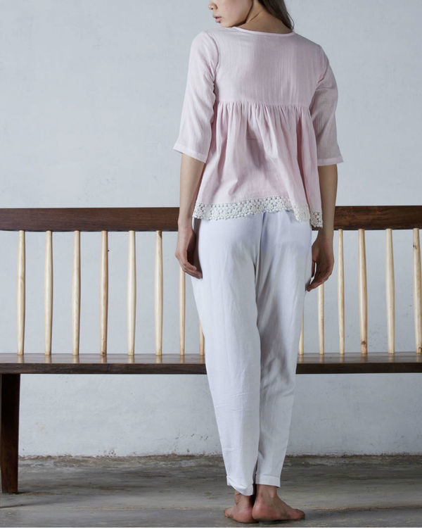 Pink crochet top 1