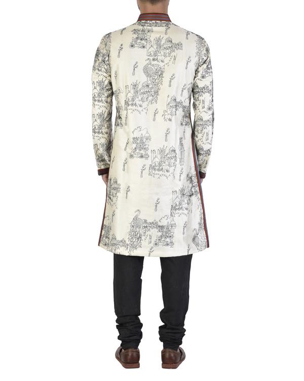 White dupion silk angrakha 1