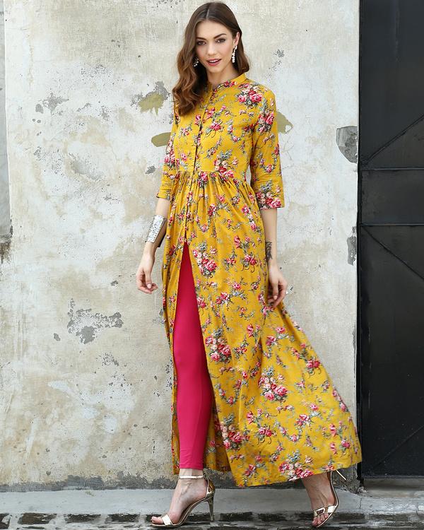 Marigold printed cape 2