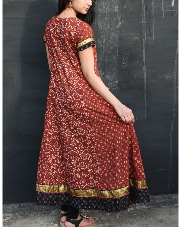 Deep red anarkali 2