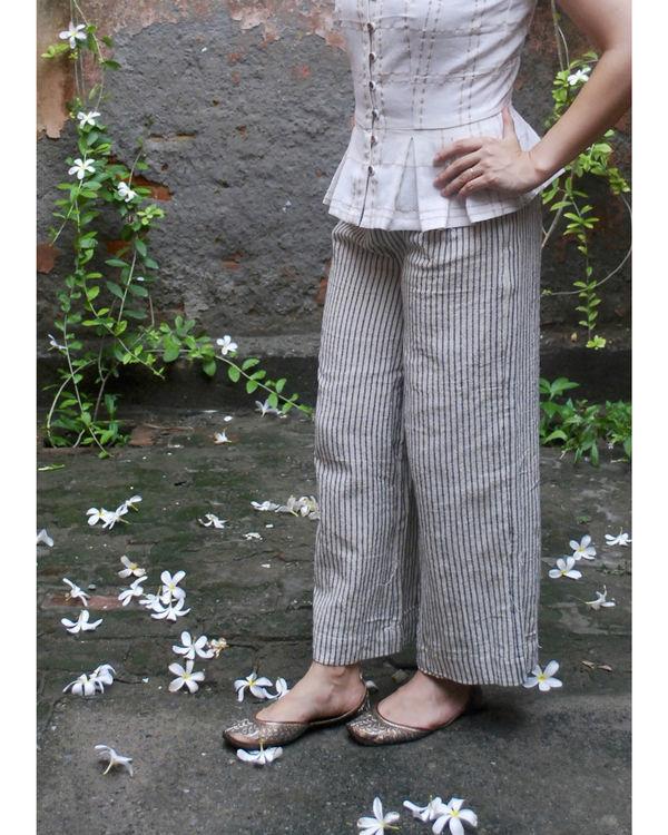 Jute striped pants 1