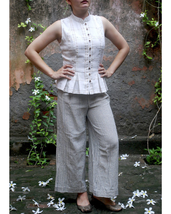 Jute striped pants 2