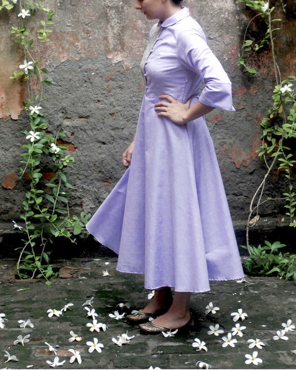 Lavender midi dress 1