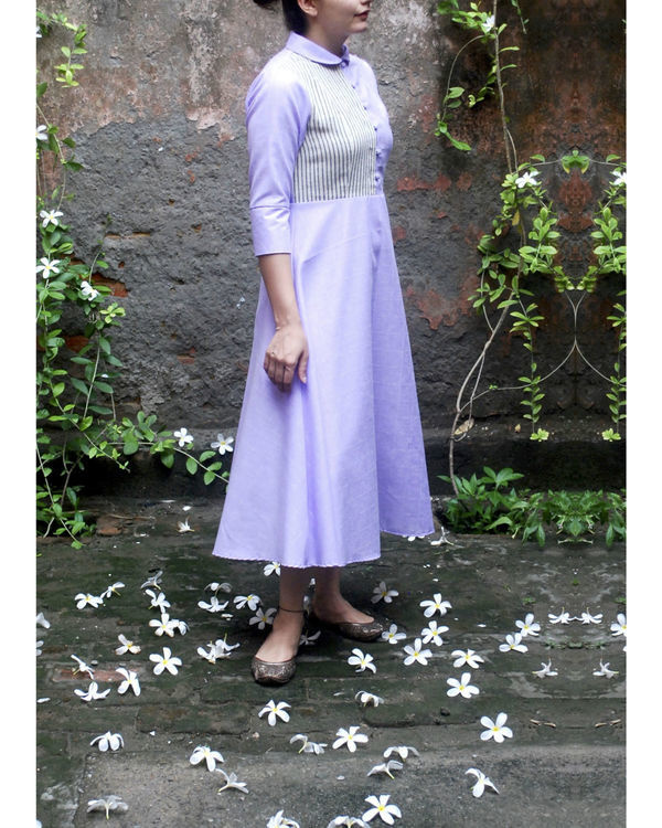 Lavender midi dress 2