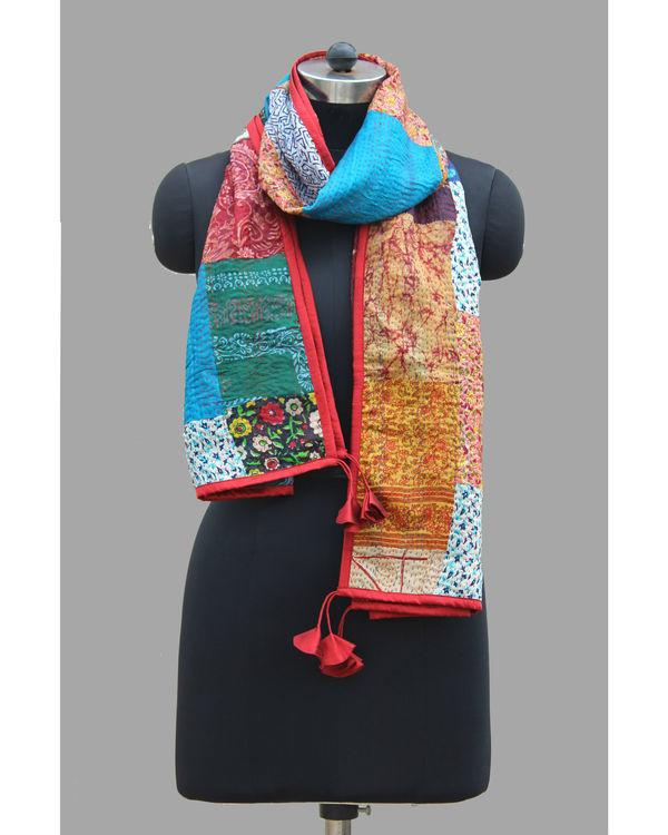 Kantha silk patchwork stole 1