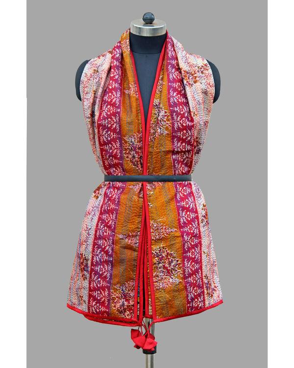 Kantha silk patchwork stole 2