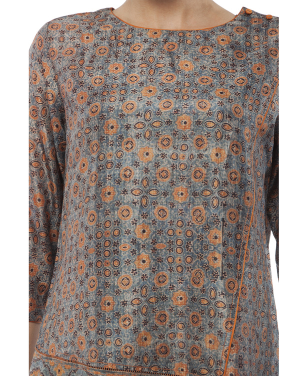 Ajrakh print short tunic 1