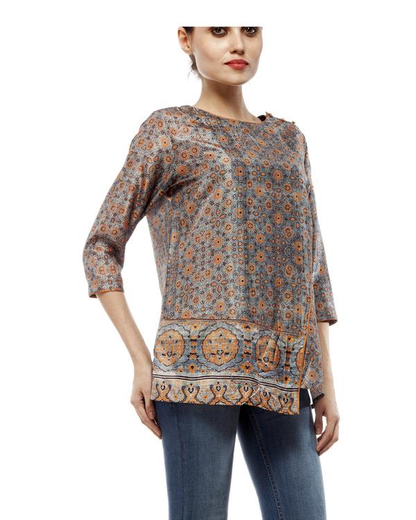 Ajrakh print short tunic 3