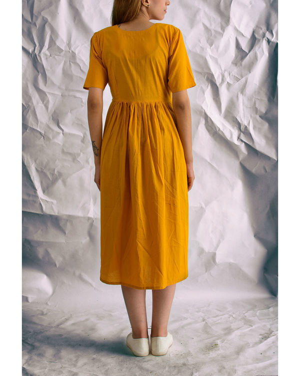 Mustard sunshine midi dress 1