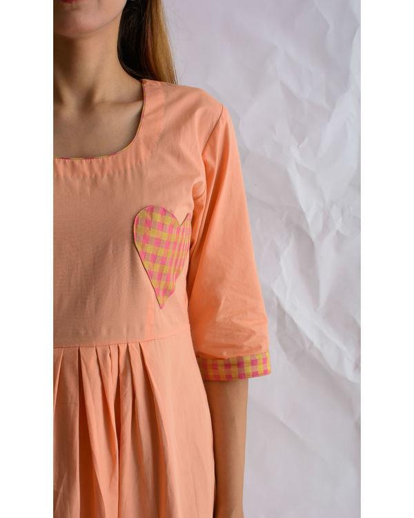 Peach heart maxi dress 1