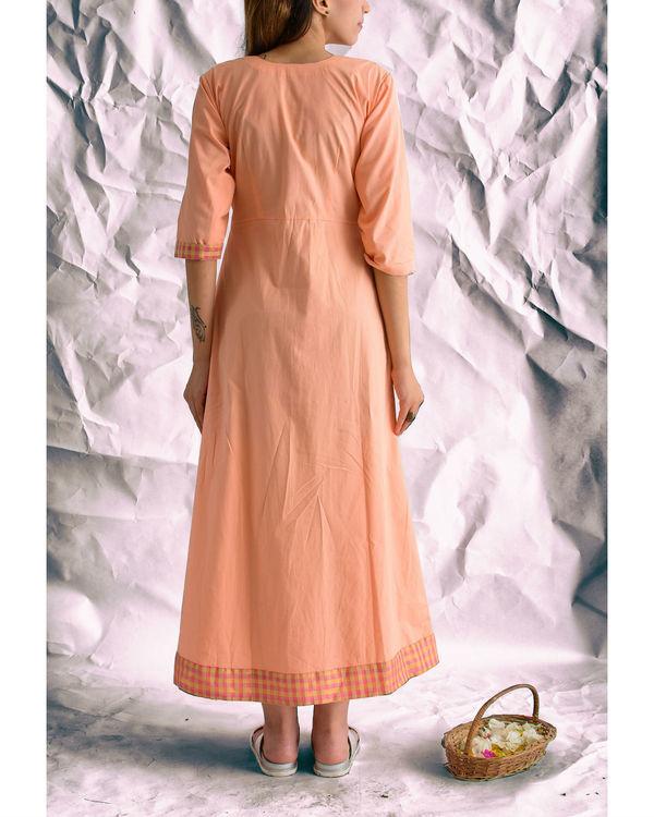 Peach heart maxi dress 2