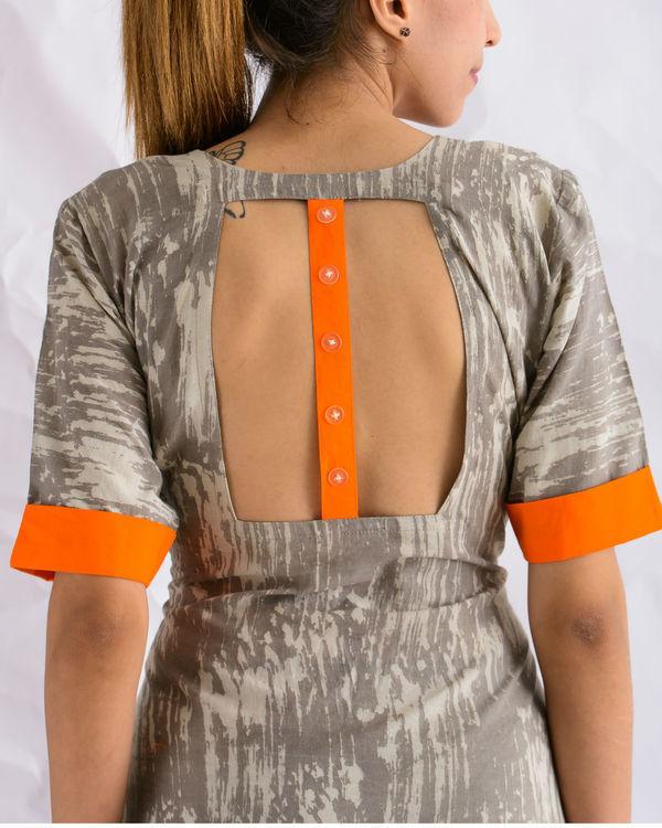 Grey midi dress 1