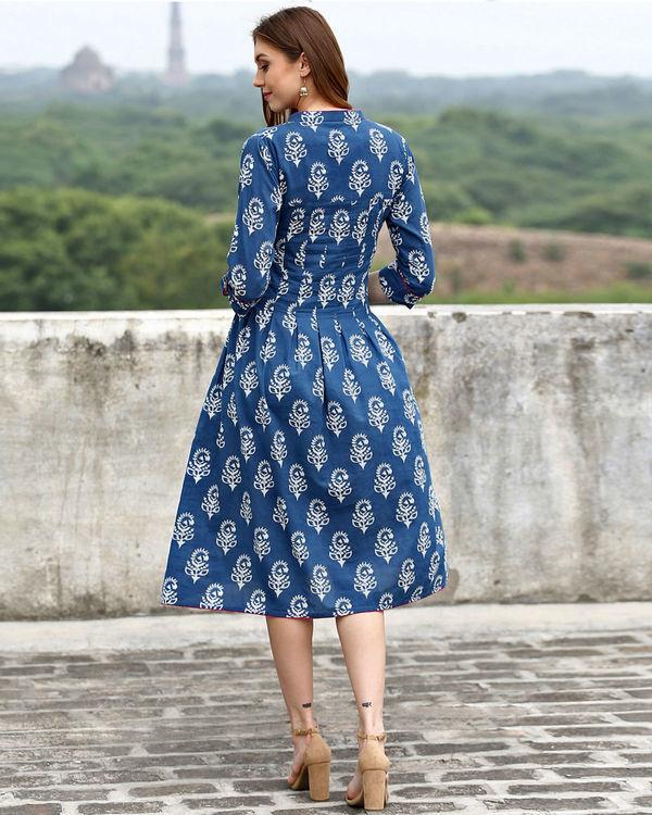 Indigo midi dress 2