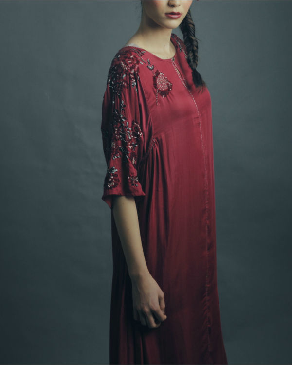 Ziva maroon dress 1