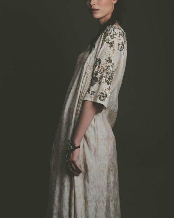 Ziva ecru dress 1