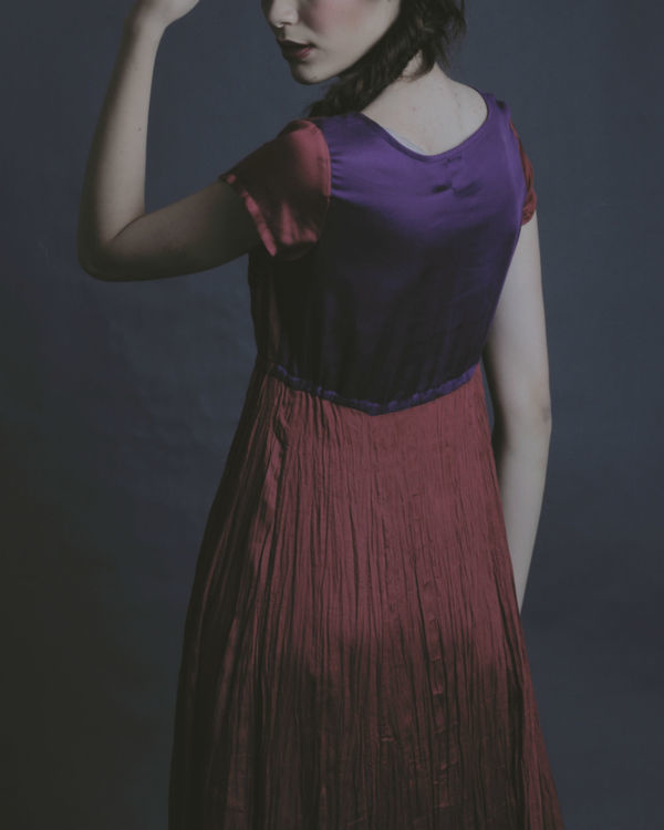 Lyla maroon dress 1