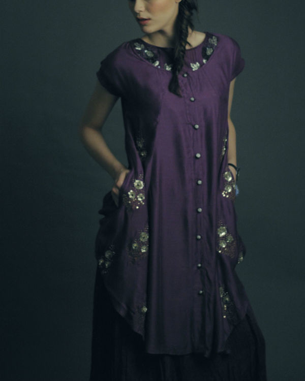 Roza purple dress 1