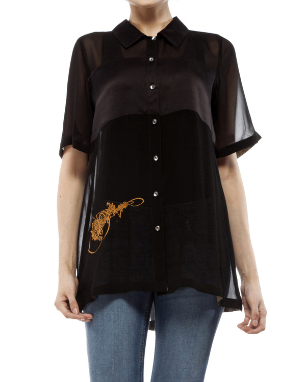 Black shirt with embroidery 1