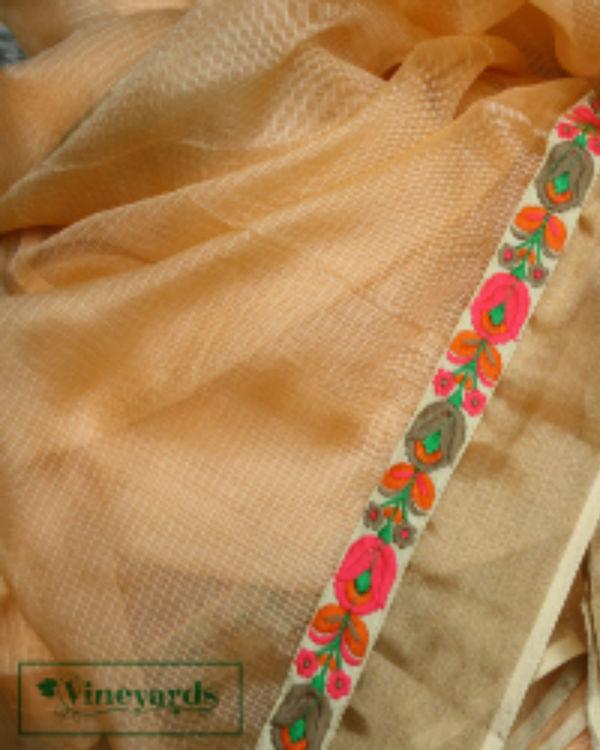 Sandy peach saree 2
