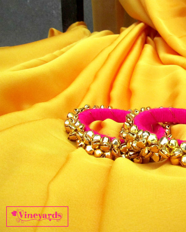 Golden cascade saree 1
