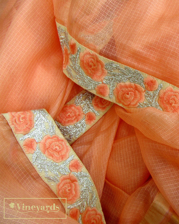 Peach annabella saree 2