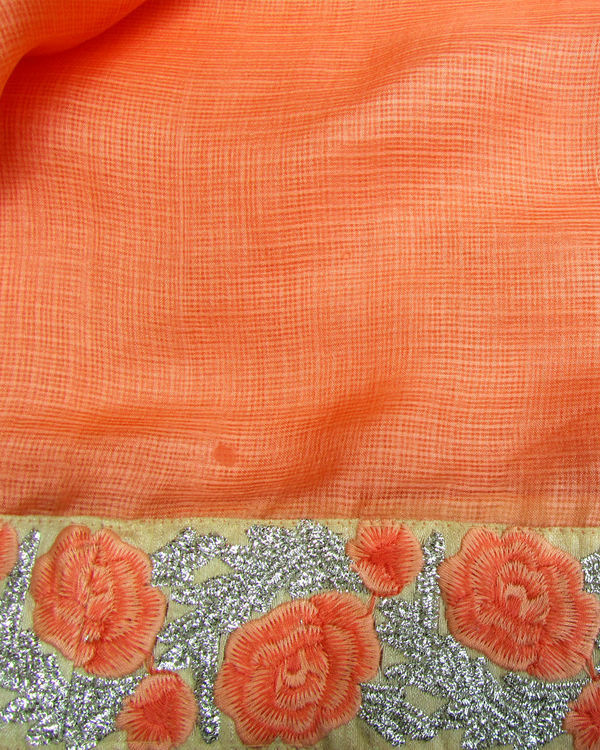Peach annabella saree 3
