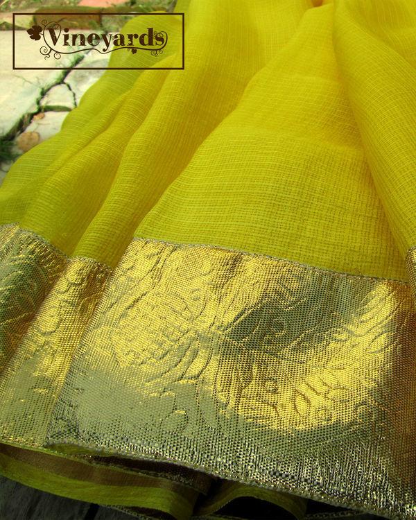 Yellow golden saree 2