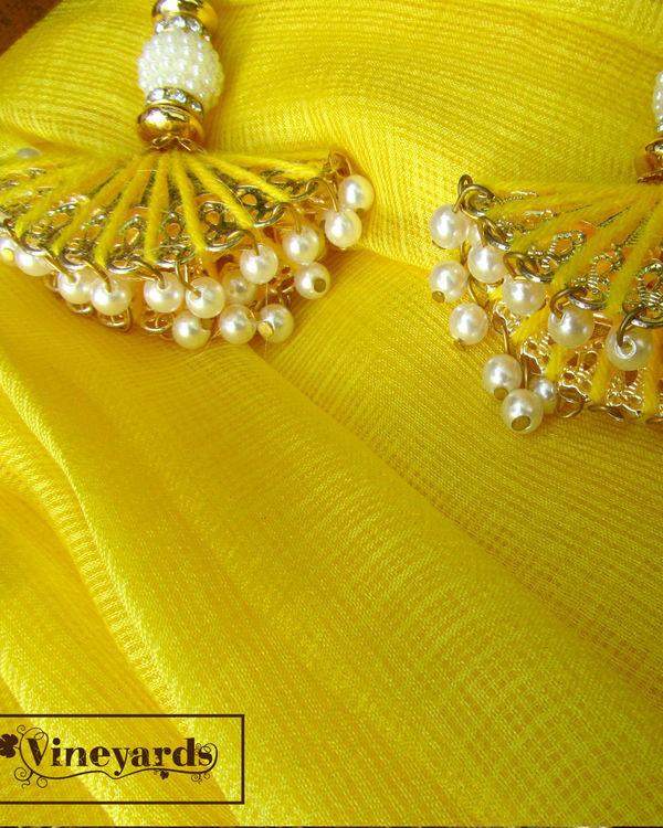Yellow golden saree 3