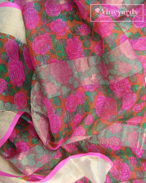 Old rose saree 1