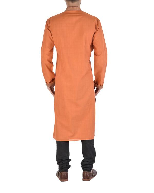 Mangalgiri cotton orange kurta 1