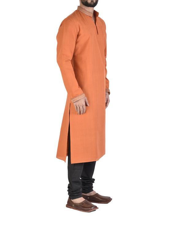 Mangalgiri cotton orange kurta 2